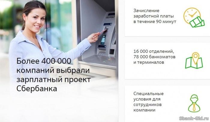 Зарплатный проект в сбербанке
